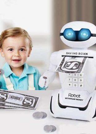 Детская электронная копилка Robot PIGGY BANK Робот игрушка эле...