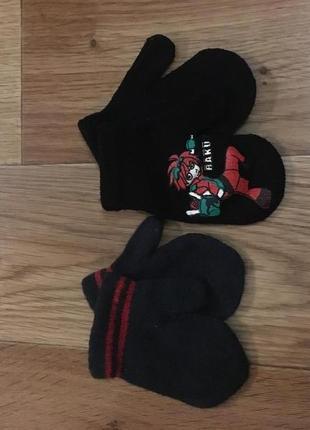 Две пары перчаток мальчику 3-6 лет