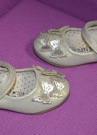 Нарядные туфельки балетки на девочку george