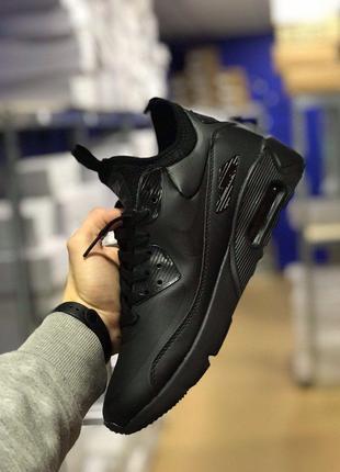 Nike Air Max 90 Ultra MID Winter Black (Черный)