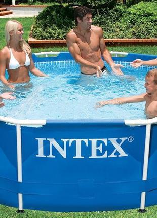 Круглый каркасный бассейн Metal Frame Pool Intex 28700 (Интекс...