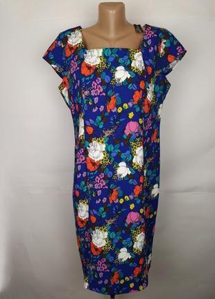Платье новое красивое в цветочный принт uk 16/44/xl