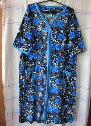 Халаты женские больших размеров велюровые 54-62 размеры