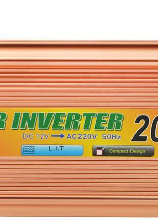 Преобразователь напряжения(инвертор) UKC 12-220V 2000W + USB G...