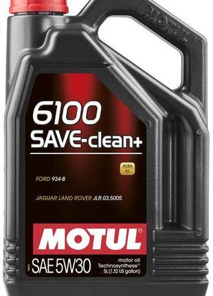 Масло моторное MOTUL 6100 SAVE-CLEAN+ SAE 5W30 (5L)     107999