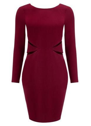 Платье по фигуре цвет марсала kardashian kollection размер s