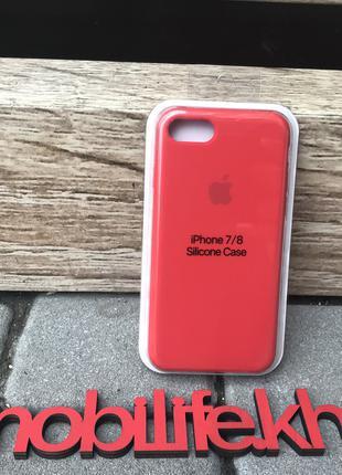 Silicon Case Original Apple iPhone 7,8,SE 2020/Красный/Высокое...