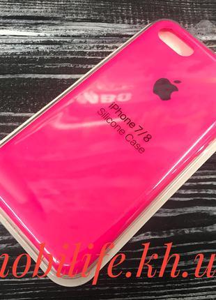 Silicon Case Original Apple iPhone 7,8,SE 2020/Ярко-Розовый/