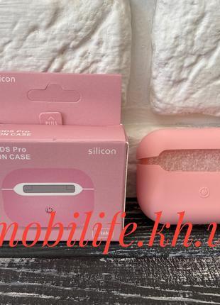 Силиконовый чехол Airpods Pro/Silicon case Airpods/Pink (розовый)