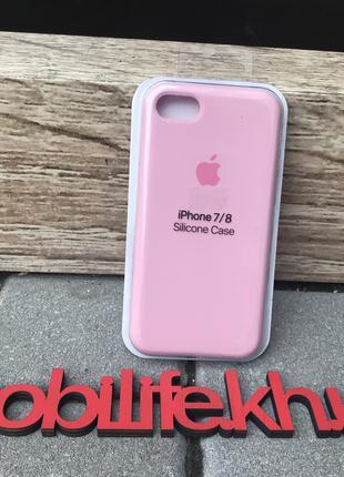 Silicon Case Original Apple iPhone 7,8,SE 2020/светло-розовый/