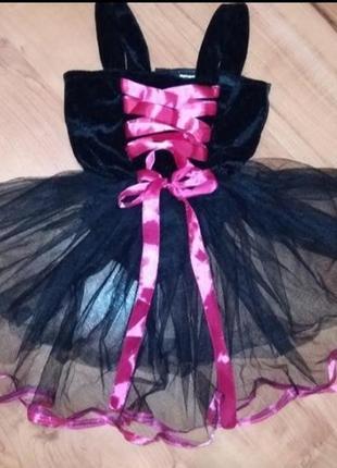 Платье-бодик для танцев, костюм кошечки на 4-6лет
