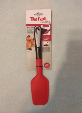 Лопатка Tefal Ingenio силиконовая Черный с красным (K2064614)