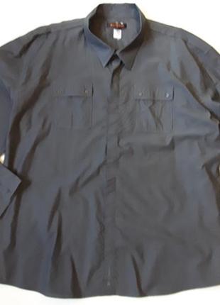 Хлопковая рубашка большого размера