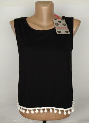 Блуза майка топ новая стильная с бахромой по низу boohoo uk 12...