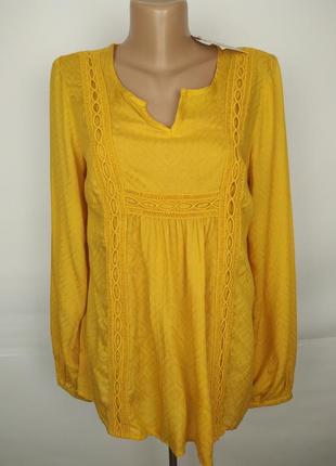 Блуза новая легкая желтая красивая uk 10/38/s