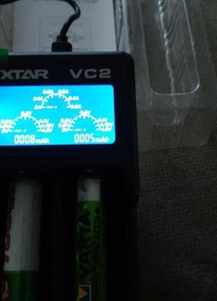 XTAR VC2 зарядное устройство USB LCD LI-ion
