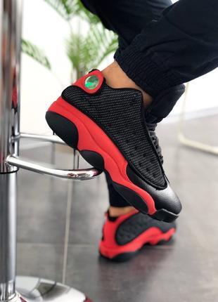 """Кроссовки мужские Nike Air Jordan 13 """"Black/Red"""" черные с красным"""