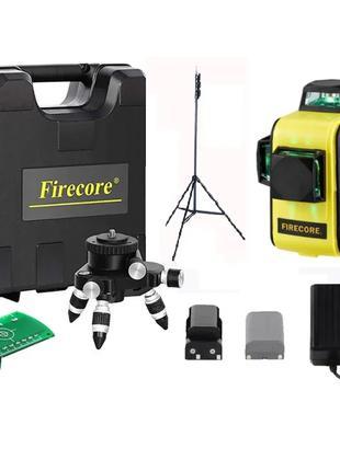 Лазерный уровень 3D Firecore F93T XG в кейсе + Большой штатив