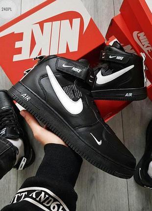 Зимние кроссовки nike air force high 19 black, мужские чёрные ...