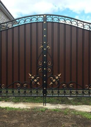 Металлопрофильные ворота Стрела
