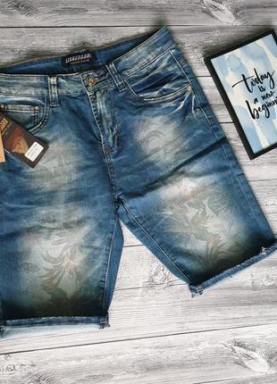 Джинсовые шорты с принтом
