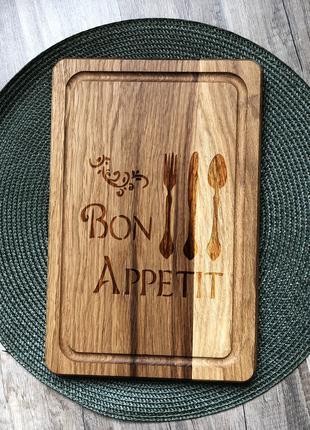 """""""Bon appetit"""" разделочная доска с отверстием для подвеса, доска д"""