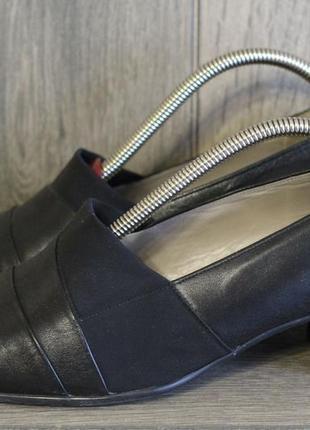 Роскошные кожаные туфли gabor 41- 42 разм австрия