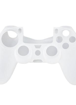 Силиконовый чехол Game Teh X для джойстика PS4 Белый (Арт. 10008)