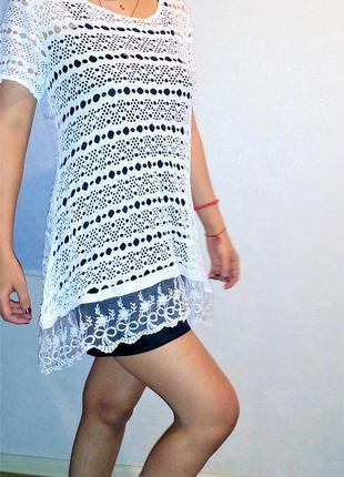 Туника платье  сетка универсал