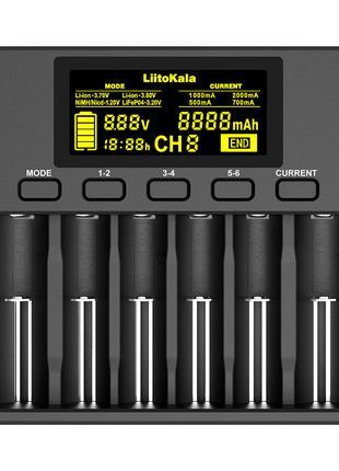 Универсальное ЗУ Liitokala Lii-S6, 6 каналов, Ni-Mh/Li-ion/LiF...