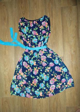 Шифоновое платье с-m