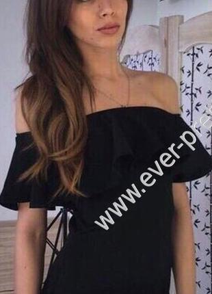 Платье с воланами xs-m