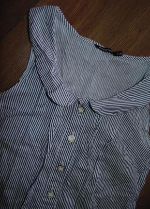 Платье туника с рюшами воланами