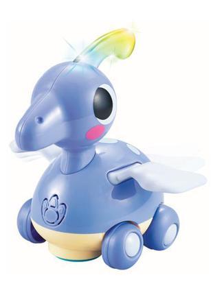 Детская игрушка каталка музыкальная для малышей Hola Toys Птер...