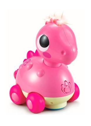 Детская игрушка каталка музыкальная для малышей Hola Toys Дино...