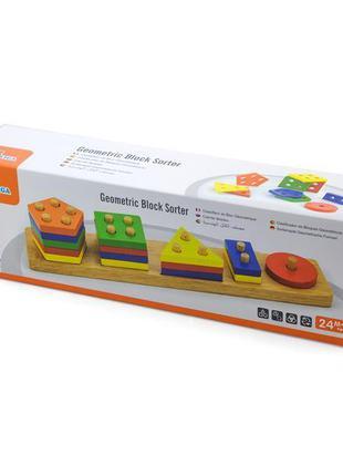Набор для обучения Viga Toys Геометрические фигуры сортер (58558)