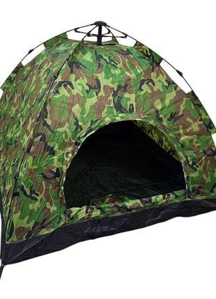 Палатка автоматическая 4-х местная Камуфляж Размер 2х2 метра (15)