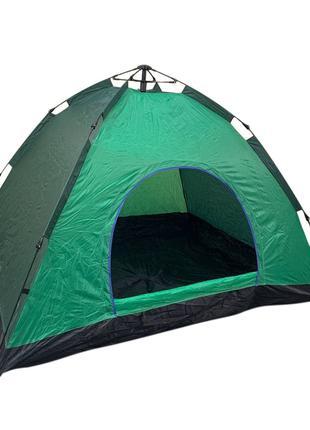 Палатка автоматическая 4-х местная ЗЕЛЕНАЯ Размер 2х2 метра (15)