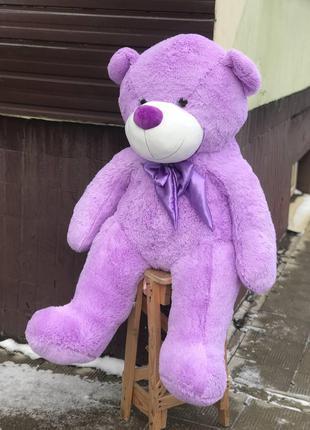 Большой плюшевый медведь лиловый (фиолетовый) 145 см, мягкие и...