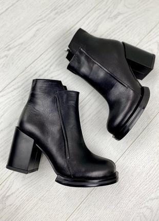 Женские ботинки на устойчивом каблуке весенние, женская обувь ...