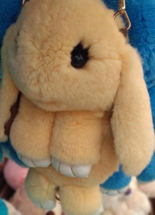 Сумка-рюкзак кролик из натурального мех