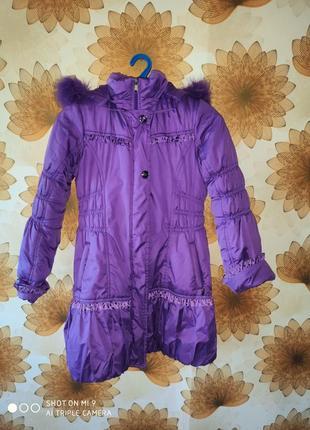 2в1 зимняя куртка на подстежка овчине. деми куртка