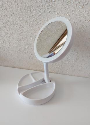 Складное зеркало для макияжа My Fold away mirror 13 с подсветкой