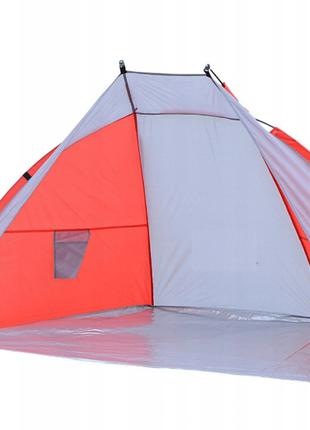 Палатка пляжная тент сера-красная