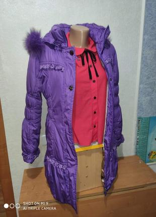 2 в 1 зимняя куртка на подстежке овчина , демисеонная куртка