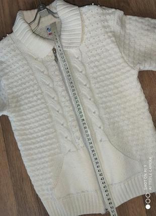 Теплый свитер с жемчугом  на молнии