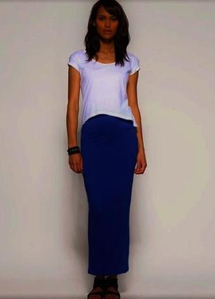 Длинная юбка с разрезом хб