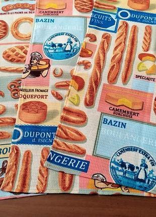 Набор красочных кухонных полотенец из вафельного полотна