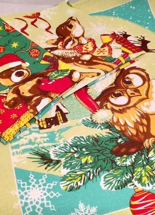 Набор из 3 новогодних вафельных полотенец размером 47х60