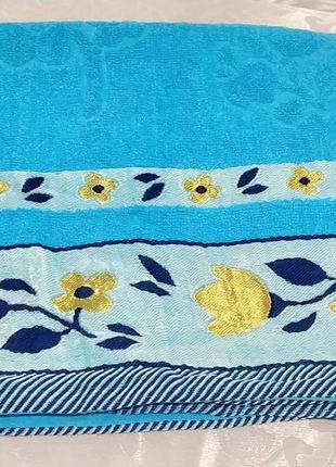 Банное махровое полотенце